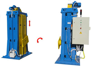 Horizontal welding rotators