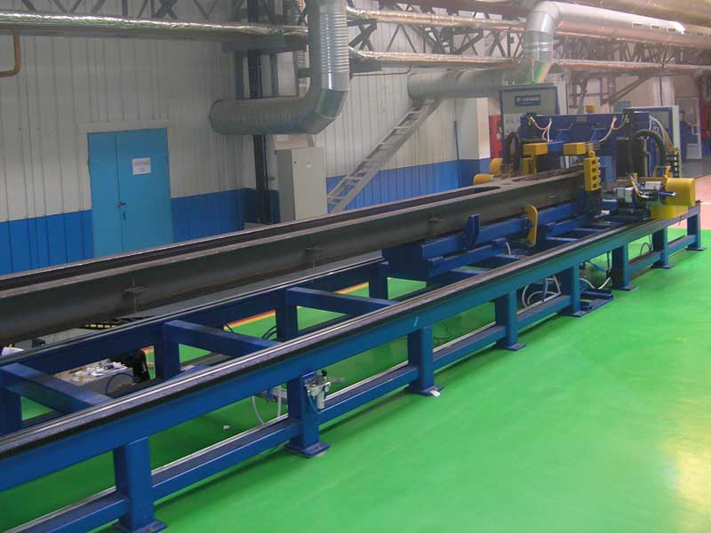 Automated center sill drilling center