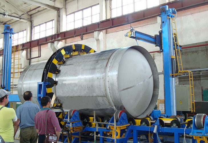 Stand for Assembly and Machine Welding of Tank Conteiner Vessel