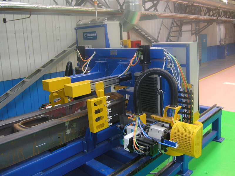 Automated line for center sill drilling