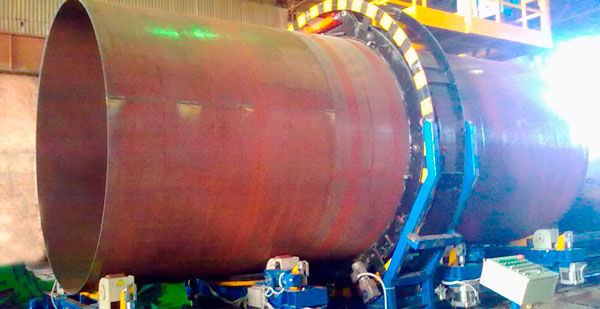 Tank car vessel welding