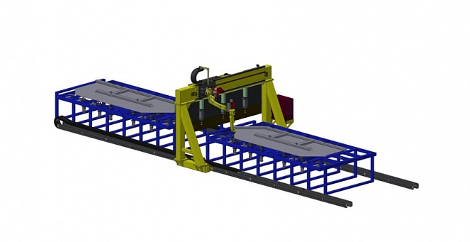 Two-position stand for left sidewall assembly/welding